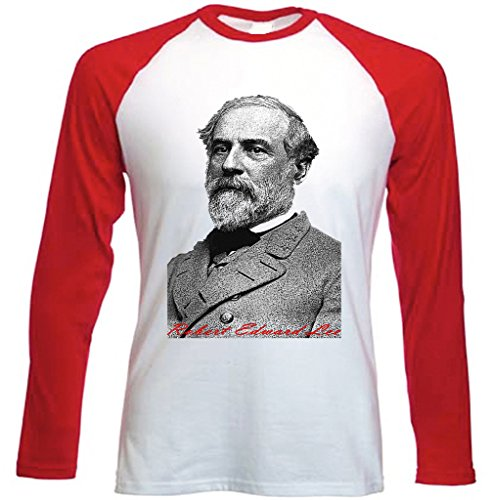 Teesquare1st Men's LEE ROBERT EDWARD Red Long Sleeved T-shirt Size