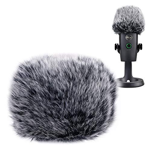 YOUSHARES Mikrofon Furry WindSchutzscheibe Muff-MIC Wind Cover fur Pop Filter als SchaumStoff-Abdeckung kompatibel mit Blue Yeti Nano - Mikrofon-pop-filter Yeti Blue