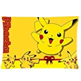 Pikachu Pillowcase Custom Throw Pillow cover 16x24 Zippered Pillow Case Two Sides Picture Printed Soft Cotton Comfortabl