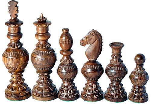 Schach-Set-Globe-Design-Knig-5-127mm-32-Holz-handgefertigte-Schachfiguren-Nur-Palisander-Buchsbaum-Handwerk