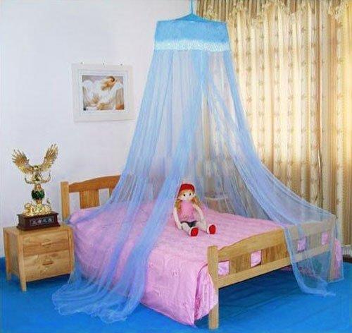 Preisvergleich Produktbild Blau Rund Lace Moskitonetz Fliegennetz Mückennetz Baldachin Betthimmel