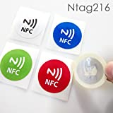 #4: NFC House Ntag216 NFC Tag High memory Sticker 30 mm Round with nfc icon printed (Set of 5)