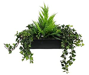 feuillage artificiel vert d 39 hiver conteneur bo te fen tre jardini re avec ext rieur conif res. Black Bedroom Furniture Sets. Home Design Ideas