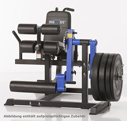 Maxxus Multi Trainer Pro - Beinstrecker, Beinbeuger, dicke Polsterungen, für Hantelscheiben mit 50/52mm Lochdurchmesser, Einzelplatzmaschine, Aufstellmaße 1270x1230x920mm, 53kg