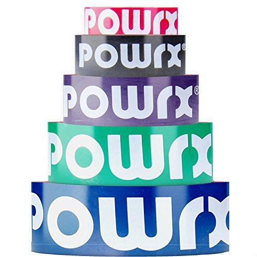POWRX Resistance/Fitness-Band | Klimmzug-Hilfe | verschiedene Farb-, Größen- und Stärkenvarianten | Widerstands-Band für Ganz-Körper-Training (Blau/Extra Strong)