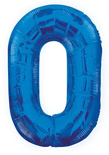 Unique Party - 55740 - Ballon Géant - Numéro 0 - 86 cm - Bleu