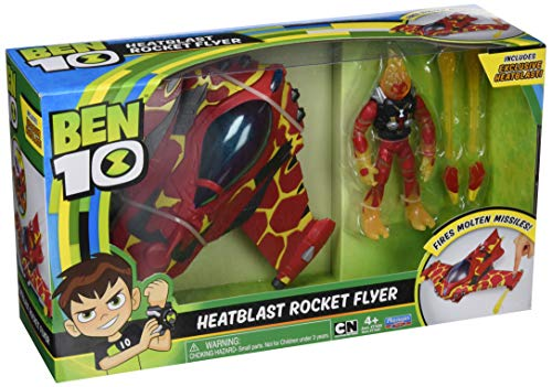Ben 10 Alien Vehicle with Figure, Heatblast Rocket Flyer, (Giochi BEN20001)