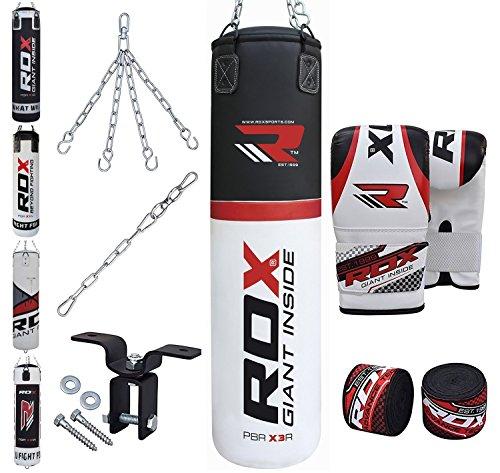 RDX MMA 8PC Set De Boxe 4FT 5FTSac De Frappe Lourd Mural Rempli Pied Poing Kickboxing Cible Crochet De Plafond