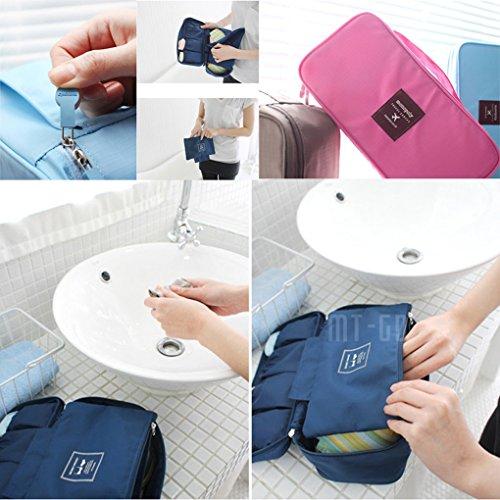Miaomiaogo Unterwäsche BH Tasche Kosmetik Make-up Kits Werkzeuge Aufbewahrungsbox Rosa