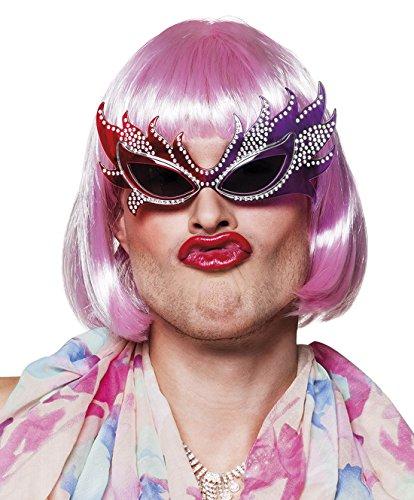 erdbeerclown - Drag Queen Brille Kostüm Sonnenbrille, - Queen Biene Für Erwachsene Kostüm