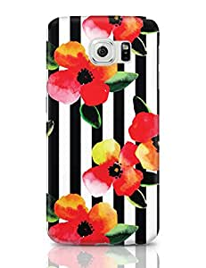PosterGuy Samsung Galaxy S6 Case Covers - Floral Stripes Stripes, Best, Vintage, Classy, Floral