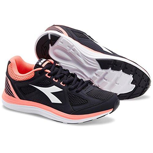 Diadora Heron 2 W, Scarpe da Running Donna C7285 NERO/CORALLO