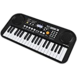 Piano Keyboard for Kids, 37 Keys Multi-function Electronic Keyboard Educational Toy Organ with Double Speaker LCD Display for Toddlers (Black)