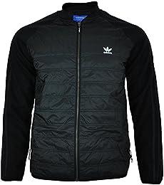 adidas originals authentic superstar trainingsjacke in schwarz