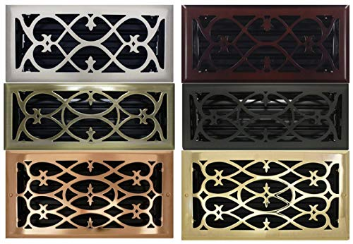 Viktorianischer Register mit Dämpfer (Klimaanlage Vent Cover) (Vent Cover 6 X 14)