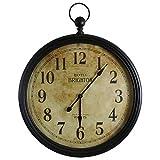 Grande orologio da parete gigante stile EX Orologio a taschino grande pendolo rotonda in ferro e vetro 9x 95x 121cm