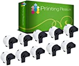 Printing Pleasure DK-22205 62mm x 30.48m Continuous Standard Address Labels for Brother P-Touch QL-500/QL-550/QL-560/QL-570/QL-700/QL-710W/QL-720NW/QL-1050/QL-1060N Label Printers - White (Pack of 10)