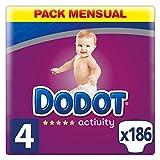 Dodot Protection Plus Activity - Pañales para bebé, Talla 4 (8-14 kg),  186 Pañales