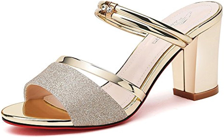 fd307c45f5eb69 sandales, pantoufles et chaussures à talons occasionnel occasionnel  occasionnel pour la soirée mariage chunky talon (couleur: style ...