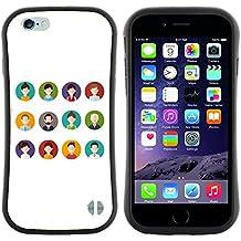 "Super Galaxy iFace Series Tpu Silicona Carcasa Funda Case // V00000575 La gente avatares // Apple iPhone 6 6S 6G PLUS 5.5"""