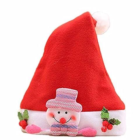 Christmas Hat Elk Red Hat Cozy Soft Warm Children Santa Headgear Lanspo (C)