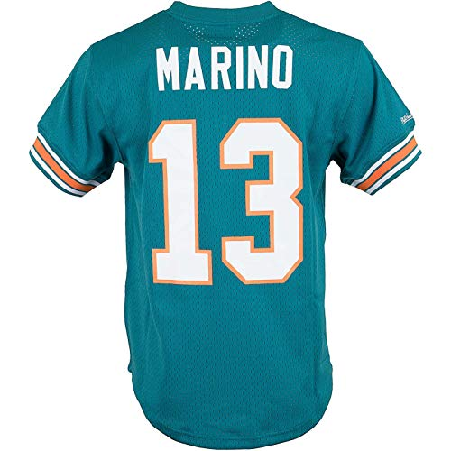 newest db0f3 a2a0c Mitchell & Ness Name and Number Mesh Crewneck Retro Trikot (M, Dan Marino)
