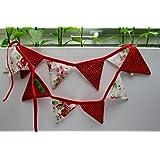 Wimpelkette Girlande mini aus Baumwolle für Kinderzimmer oder Fenster,
