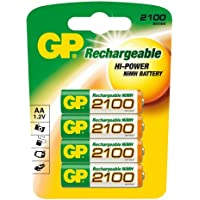 GP Batteries NiMH rechargeable batteries 2100 AA Mignon 4 stuks