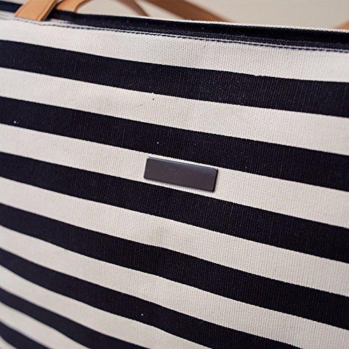 GUMO-Borsa da spiaggia, grande capacità, borsa di tela, stripe, croce diagonale pack, unica borsa a tracolla,stripe stripe