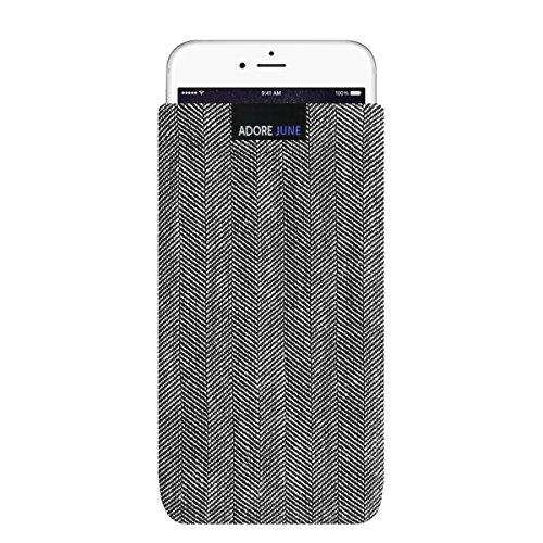 Adore June iPhone 7 Plus/iPhone 6S Plus/iPhone 6 Plus Hülle, Handytasche [Serie Business] Stofftasche Fischgrat-Stoff [Display-Reinigungseffekt] Apple iPhone 6 Plus/6s Plus/7 Plus Case
