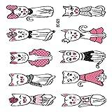adgkitb 5 stücke Cartoon Tattoo Aufkleber Für Kinder Kaktus Gefälschte Tatoo Kinder Buchstaben...