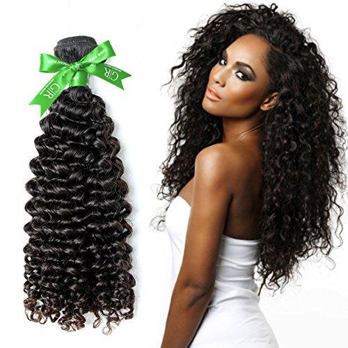 Grade 5 A Cheveux non traités brésiliens vierges Remy extensions de cheveux bouclés cheveux humains Extensions capillaires Profondeur tissage Bouclé Noir naturel couleur 1/Lot 100 g 45,7 cm
