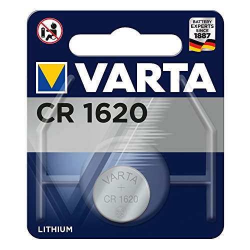VARTA CR 1620 Lithium Knopfzelle CR1620, 1er Pack
