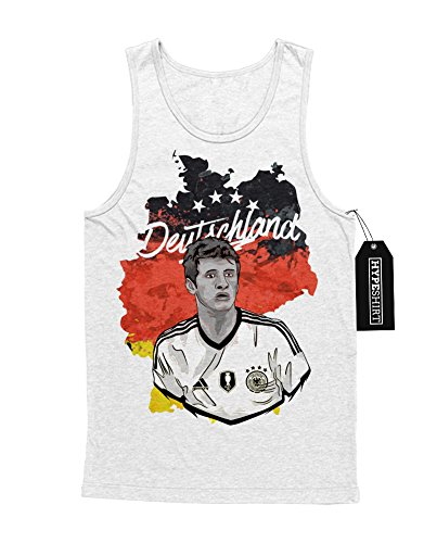 Tank-Top Deutschland Thomas Müller Fußball EM Europa Meisterschaft UEFA Euro 2016 Trikot M161604 Weiß