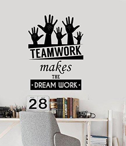 Custom Home Office Schreibtische (Wand Aufkleber Büro Platz Inspirierende Worte Team Work Motivational Zitate Home oder Office Decor)