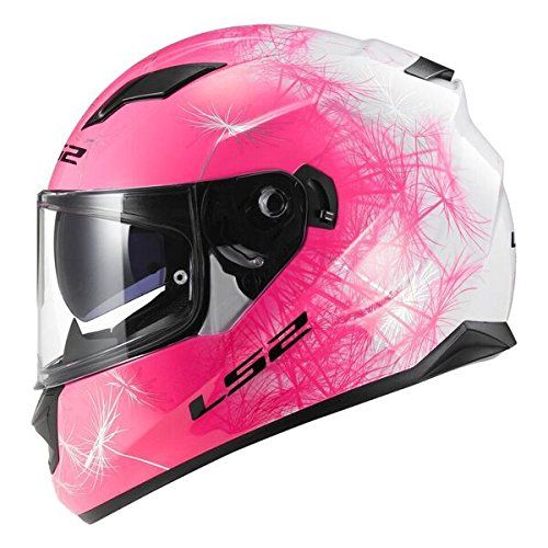 5fed6a296e8a1 Motocicleta LS2 FF320 Wind Rosa Mujer Moto Casco Integral con interior sol  Apertura Nuevo