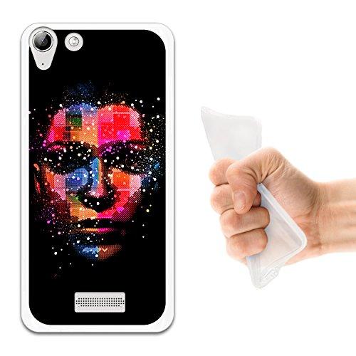 WoowCase Wiko Selfy 4G Hülle, Handyhülle Silikon für [ Wiko Selfy 4G ] Mehrfarbige Kunst Mädchen Gesicht Handytasche Handy Cover Case Schutzhülle Flexible TPU - Transparent