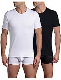 Dim X-Temp T-Shirt Mc Col V X2, Maillot de Corps Homme