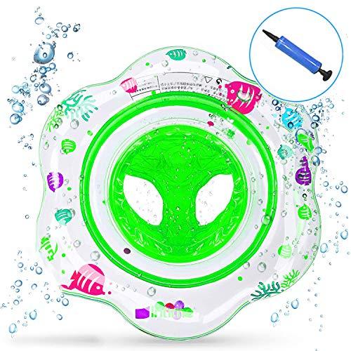 Intime ciambella gonfiabile neonato, salvagente mutandina bambini piscina galleggiante 1 e 4 anni giochi giocattolo salvagente gonfiabile per bambini (verde)