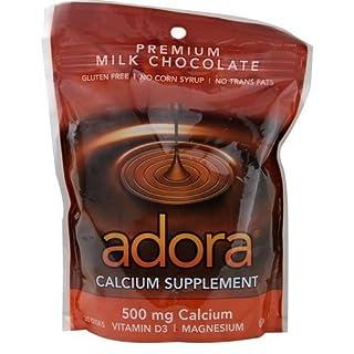 Calcium Supplement, Milk Chocolate, 30 Disks - Adora - UK Seller