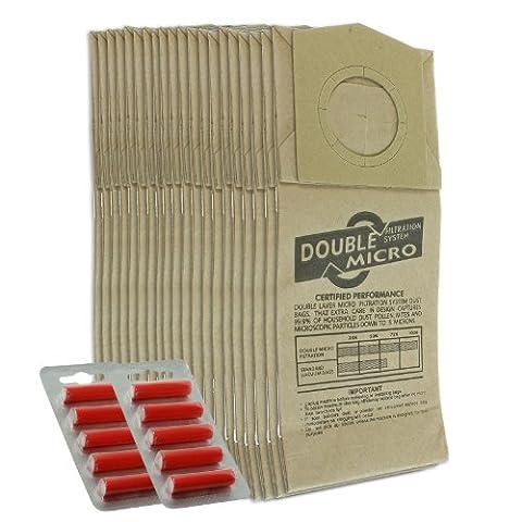 First4spares Sacs à Poussière pour Aspirateurs Dirt Devil Handy main zip (Lot de 10, de 20+ option bâtons Sac Désodorisant) 20 Bags + 10 Freshener Sticks
