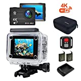 Action Kamera, GULAKI 4K 16MP Wi-Fi Action Cam Wasserdicht 40M 2.0 Zoll LCD-Bildschirm 170 °...