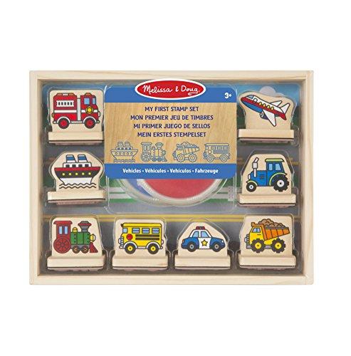 erstes Holzstempel-Set Fahrzeuge 10 Teile ()
