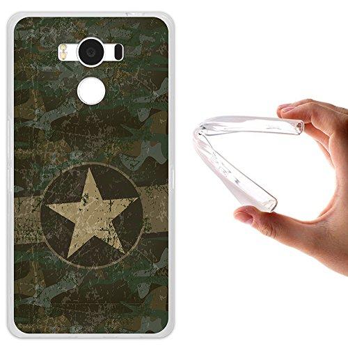 WoowCase Elephone P9000 Hülle, Handyhülle Silikon für [ Elephone P9000 ] Militärischer Stern Handytasche Handy Cover Case Schutzhülle Flexible TPU - Transparent