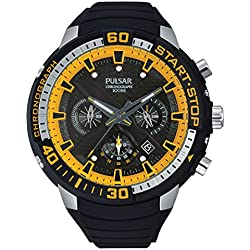 Pulsar Gents Watch Quartz Chronograph XL Pulsar X Rubber PT3643 X 1