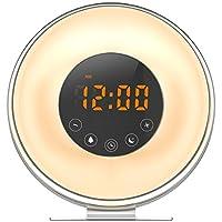[Neueres Modell] Oria Wake-up Light, Sonnenaufgangs Lichtwecker LED Wecker Licht mit FM Radio, Sonnenuntergang... preisvergleich bei billige-tabletten.eu