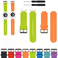 iFeeker Accessory Air Hole Style Adjustable Soft Silicone Replacement Wristband Watch Strap for Garmin Approach S2/S4 GPS Golf Watch/Garmin Vivoactive GPS Smart Watch