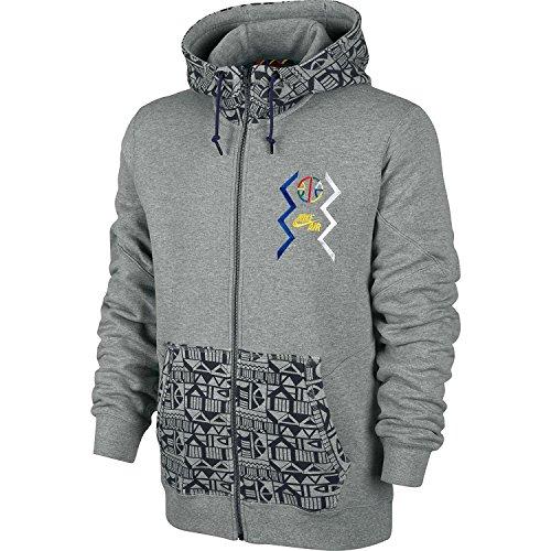 Nike Basketball Pivot Full-Zip Men's Hoodie Cool Grey/Black 612859-063 (Herren Zip-basketball-schuhe)