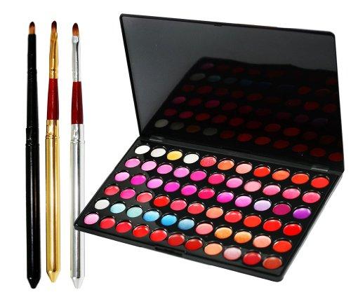 Andere Palette de 66 rouges à lèvres avec kit de pinceaux à maquillage