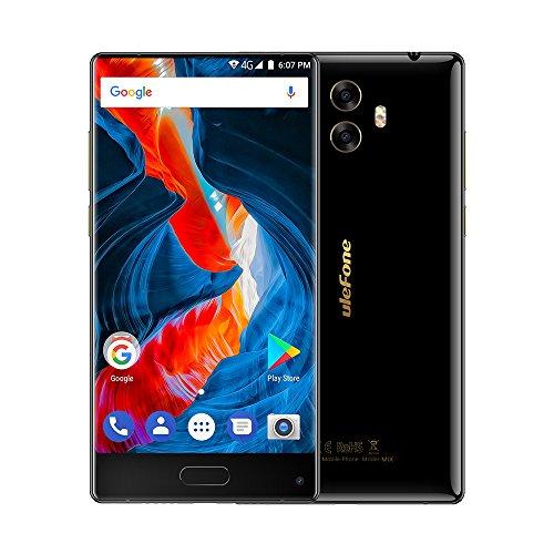 Ulefone MIX - Großer Display mit Wenig Rand, 5,5 Zoll 4G FDD-LTE Smartphone, Android 7.0 Octa Core 4GB+64GB, Dual SIM, Hintere Kameras 13MP+5MP mit Front 13MP, Front Fingerabdruck ID, Voll Display Entsperrt Handy, Schwarz